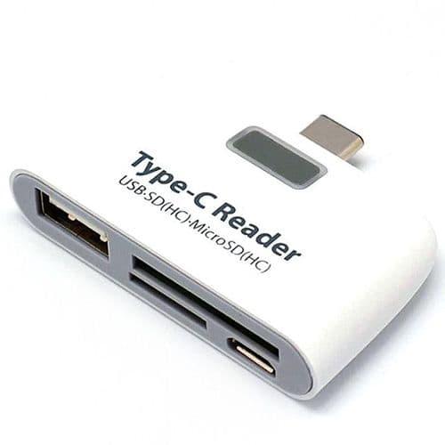 4 en1 USB-C Type C USB Micro USB OTG Lecteur de Carte Micro SD TF SD