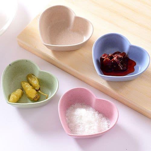 4 pcs ensemble assiette bowl Soy Sauce Sel Vinaigre Collation Plat Apéritif