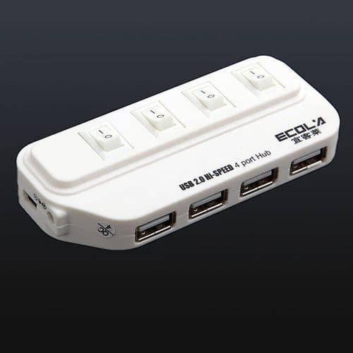 4 ports USB 2.0 High Speed avec Interrupteur Individuel 84