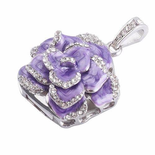 64GO USB 2.0 Clé USB Clef Mémoire Flash Clé USB Purple Rose Fleur