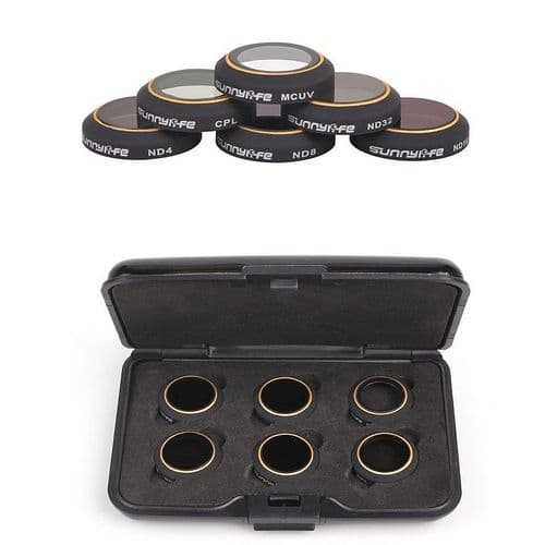 6X Filtre Densité Neutre Uv Polariseur Mcuv Cpl Nd4-32 Pour Dji Mavic Pro Drone