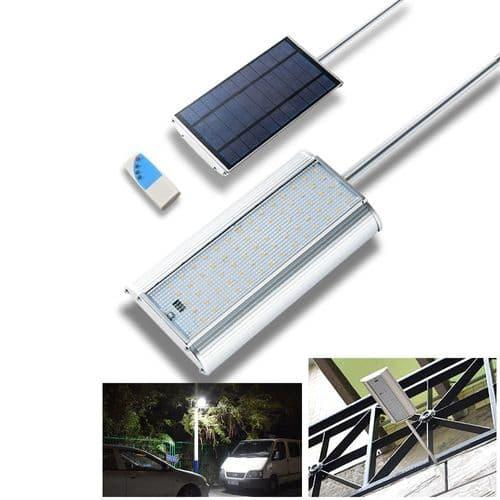70 LED Lumière Solaire Détecteur De Mouvementt 5 Modes Lampe Avec Télécommande