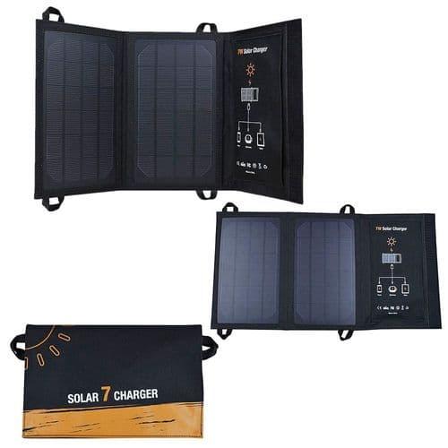 7W Chargeur De Batterie Portative Usb 5V 1.2A Chargeur Panneau Solaire Pliable