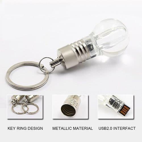 8Go USB 2.0 Clé USB Clef Mémoire Flash Data Stockage Ampoule Lumière