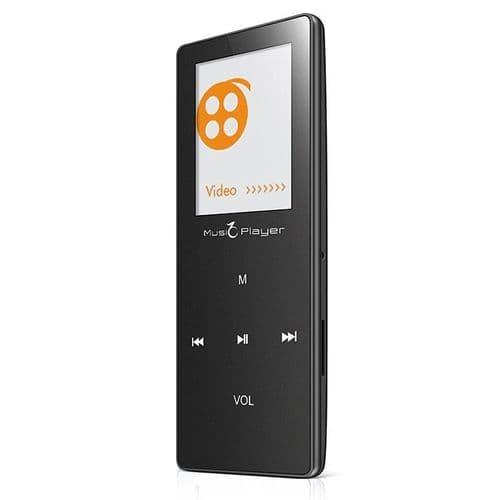 8Go Tactile Bluetooth Baladeur MP3 Lecteur Audio FM Enregistrement Vocale X01 BK