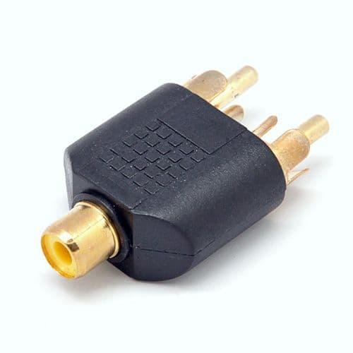 Adaptateur Connectique Audio Connecteur 1x RCA Femelle vers 2x RCA Mâle 67