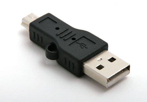 Adaptateur Connectique USB A Mâle Mini USB Mâle