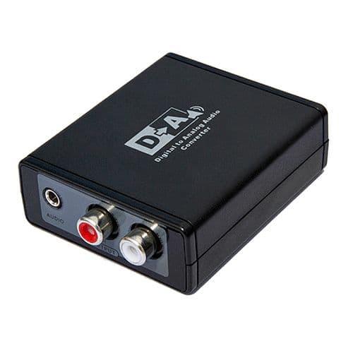 Adaptateur Convertisseur Coaxiale Optique S/SPDIF Toslink vers Analogique RCA Audio