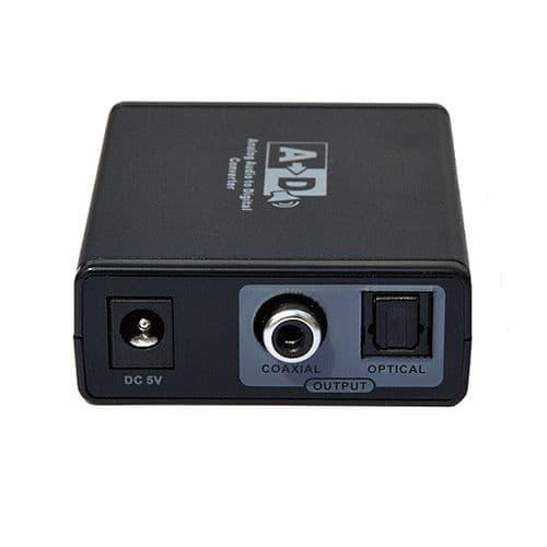 Adaptateur Convertisseur RCA Audio Coaxiale vers Analogique RCA Audio Coaxiale Optique S/SPDIF