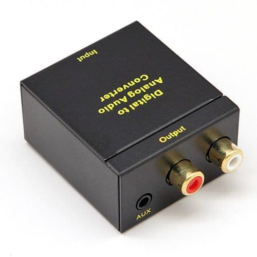 Adaptateur Convertisseur Toslink Optique et Coaxial à RCA Audio 3,5 mm Aux