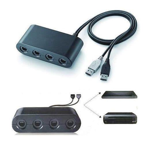 Adaptateur Convertisseur pour Manette JeuxCube à Console de jeu Wii U et PC USB