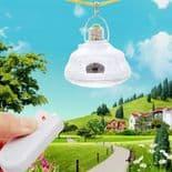 Ampoule Lampe 24 LED Standard E27 Télécommande Panneau Solaire AC/DC