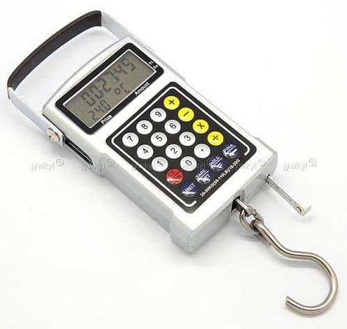 Balance Pèse Tout 50kg Horloge Thermomètre Calculatrice