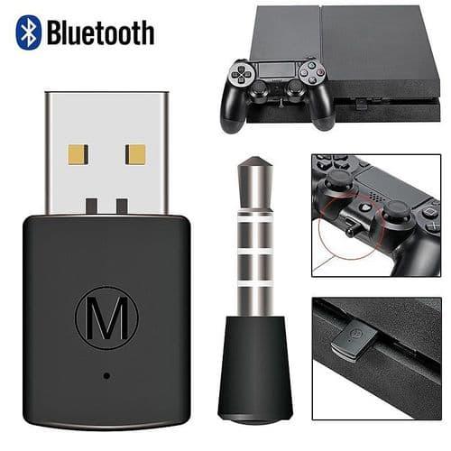 Bluetooth Adaptateur pour Casque Ecouteurs USB Dongle avec Microphone PS4