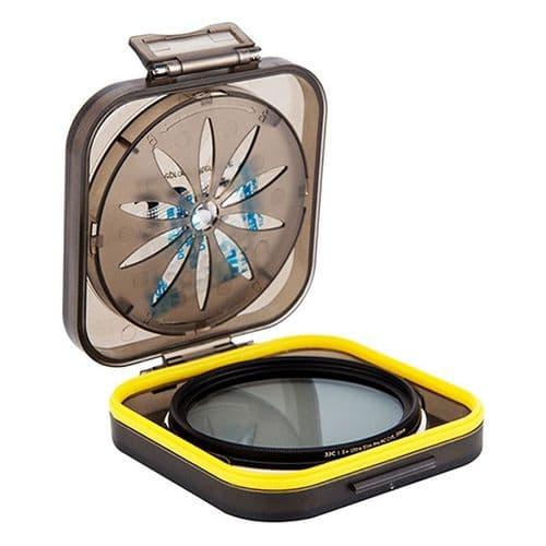 Boîte de Protection Filtre Objectif avec Gel Silica Anti-humidité 37-55mm