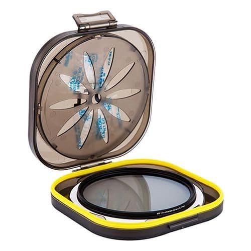Boîte de Protection Filtre Objectif avec Gel Silica Anti-humidité 58-82mm