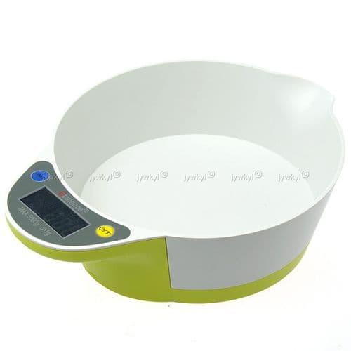 Bol Balance Electronique de Cuisine Max Poids 5000g Fonction Tare
