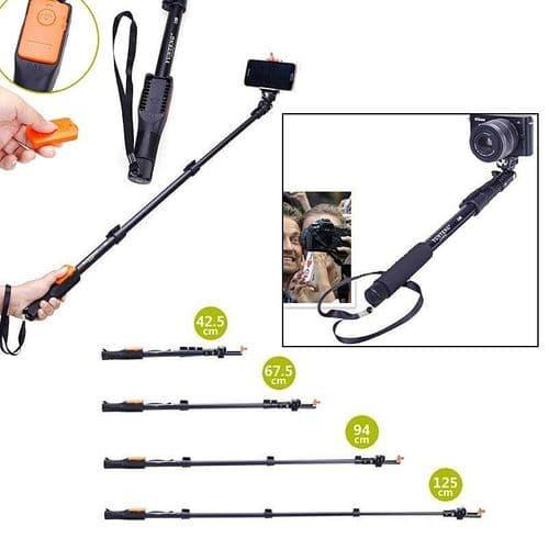 Bras Extensible Selfie Bluetooth Déclencheur Smartphone Téléphone Photo