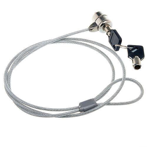 Câble Acier Antivol Sécurité pour PC Ordinateur Portable Notebook 1 Mètre