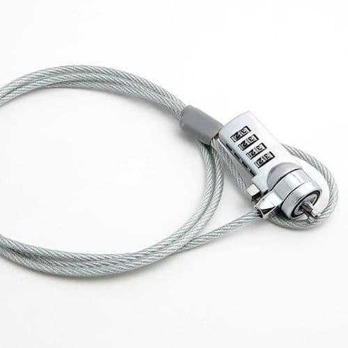 Câble Chaîne de Sécurité Antivol pour Ordinateur Portable avec Code Cadenas