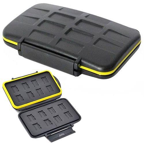 Caisson Boîte Etanche de Protection pour 16 Carte Mémoire Flash micro SD