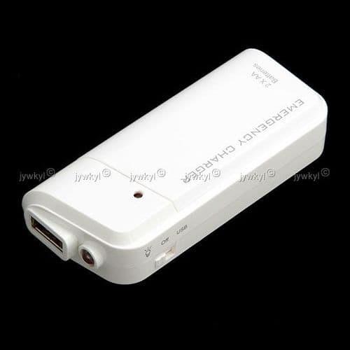 Chargeur Batterie d'Urgence Universel pour iPod iPhone et Toutes Marques Mobile et Lecteur MP3