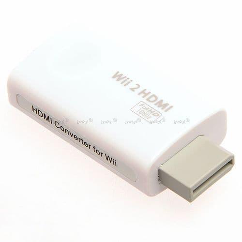 Convertisseur Adaptateur Console Wii vers HDMI TV Vidéo et Audio 3.5 mm Sortie