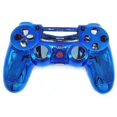 Coque de Remplacement Manette PS4 Sans Fil Console de jeu PVC Rigide  Bleu