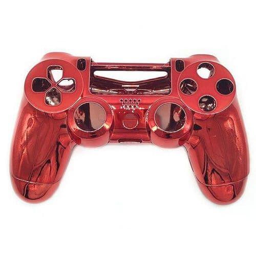 Coque de Remplacement Manette PS4 Sans Fil Console de jeu PVC Rigide Rouge