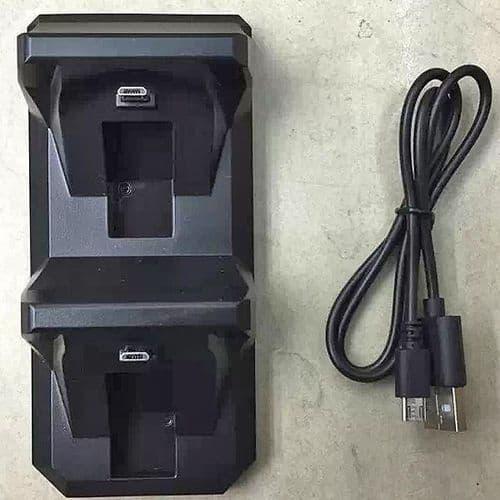 Double Chargeur Dock pour Manette Joystick Sony Console de Jeux PS4