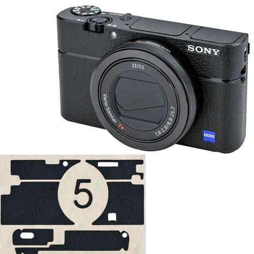 Film De Protection En Fibre De Cuir Pour Boîtier Sony Rx100V Va Rx100 Iii