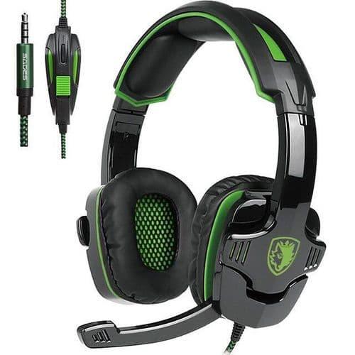 Gamer Ecouteurs Microphone Casque Audio Mic Jeux Ordinateur PC Console SA930