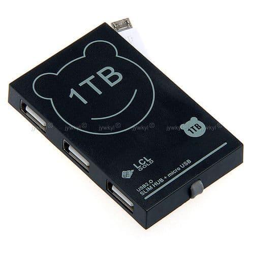 HUB 3 Ports USB 2.0 avec CâbleRecharge Micro USB Smartphone Samsung HTC LG
