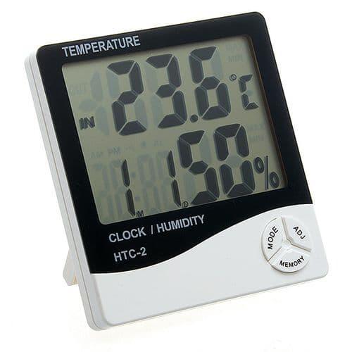 Horloge Digitale Thermomètre Hygromètre Min Max Intérieur Extérieur