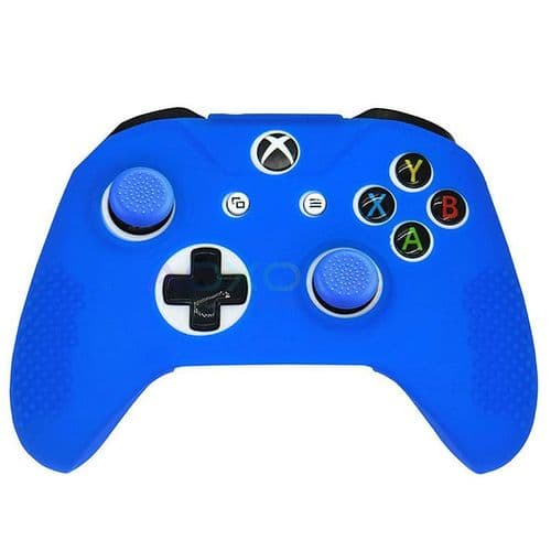 Housse Etui en Caoutchouc Silicone pour Manette Xbox One S Slim Joy-stick BU