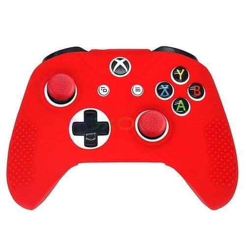Housse Etui en Caoutchouc Silicone pour Manette Xbox One S Slim Joy-stick RD