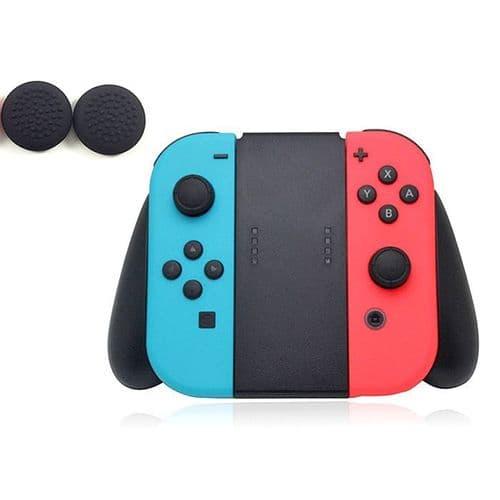 Joystick Manette Poignée Support pour Nintendo Switch 2 Silicone Capuchon BK
