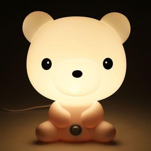 Lampe Chevet Forme Animal Bande Dessinée Ours Ourson Décoration Lumière Chambre