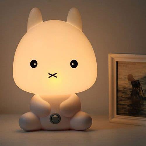 Lampe Chevet en Forme Animal Bande Dessinée Chat Décoration Lumière Chambre