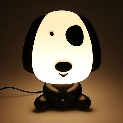 Lampe Chevet en Forme Animal Bande Dessinée Chien Décoration Lumière Chambre