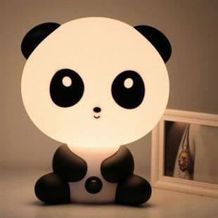 Lampe Chevet en Forme Animal Bande Dessinée Panda Décoration Lumière Chambre