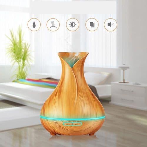 Lumière 7 couleur LED ultrason humidificateur diffuseur huile essentielle 400ml