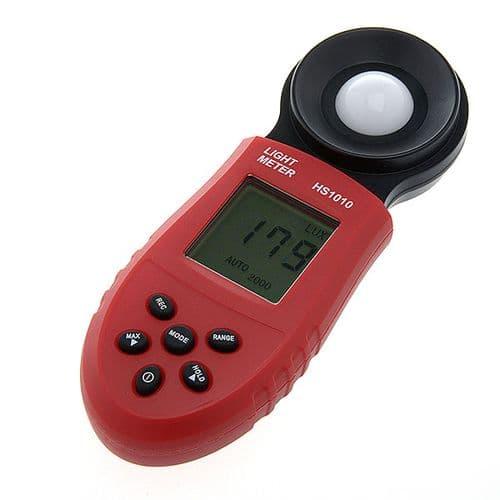 Luxmètre Digital Light Flux Lumineux Testeur Mètre HS1010 Plage 0 - 200.000 Lux