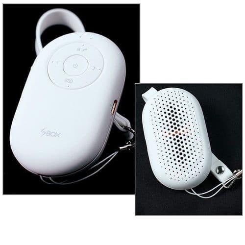 Mini Enceinte Bluetooth Portable Lecteur Micro SD Déclencheur Smartphone Blanc