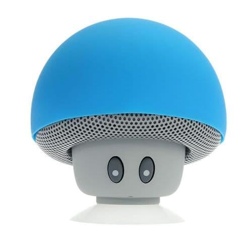 Mini Enceinte Bluetooth Sans fil Mushroom Champignon Ventouse Bleu