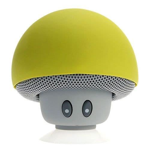 Mini Enceinte Bluetooth Sans fil Mushroom Champignon Ventouse Vert