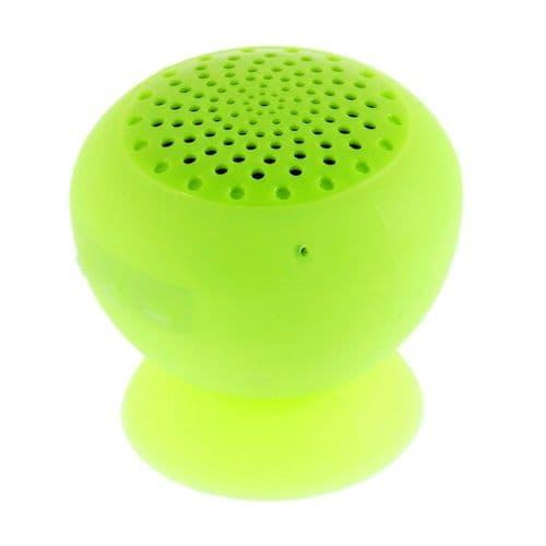 Mini Enceinte Bluetooth Sans fil Portable Étanche Douche Ventouse Support Vert