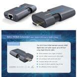 Mini HDMI Extension Rallonge Convertisseur sur Câble CAT6 jusqu'à 50m LKV372