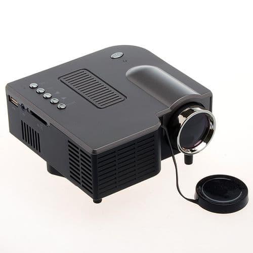 Mini Projecteur LED Portable 320x240 Haut-Parleur USB Carte SD PC A/V