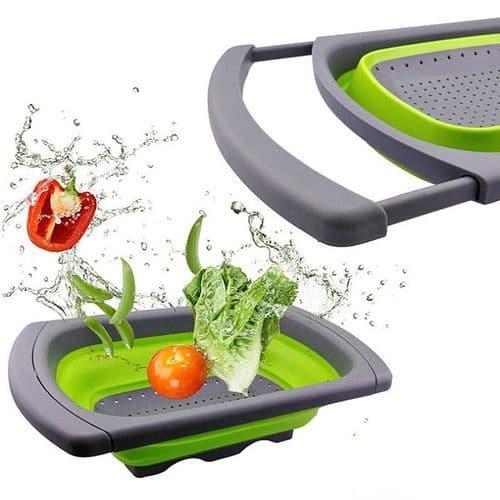 Panier Multi-Fonction De Lavage Pliable Et Extensible Passoire À Légumes Fruits